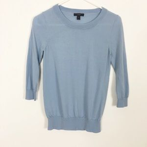 J. Crew Blue 100% Merino Wool Sweater